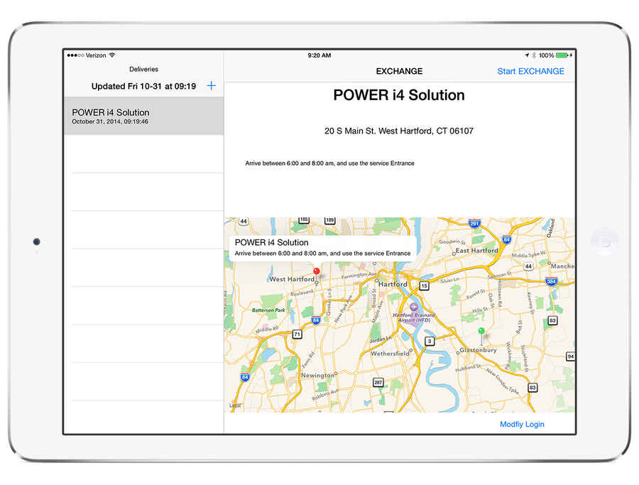 Screenshot of FormsTrack in use